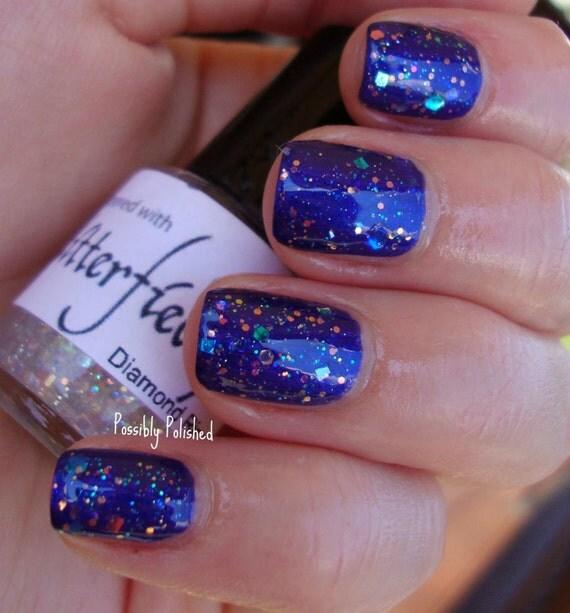 Opal Glitter Nail Polish: Diamond Ring Opal Glitter Iridescent Nail By GlitterfiedNails