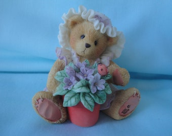 """1995 Violet Cherished Teddies /""""Blessings Bloom When You Are Near""""/1995 Enesco Cherished Teddies"""