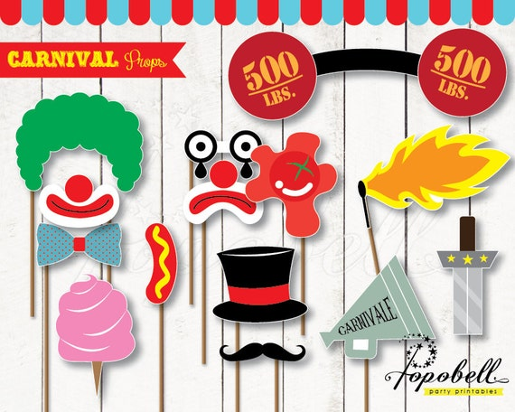 Carnival Props For Circus Birthday Party 14 Pieces Of Circus