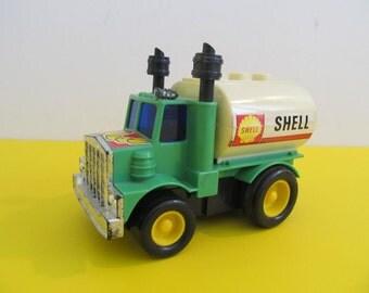 Shell Truck, Shell Oil Truck, Trucks, Toy Trucks, Collector Trucks, Boys, 1982 Endeavor Industries, Hong Kong, Vintage Trucks, Vintage Toys