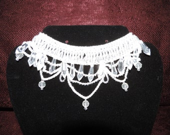 Handcrafted Beaded Crochet Choker Necklace