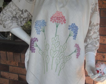 Vintage Linen and Lace Boho Peasant Top