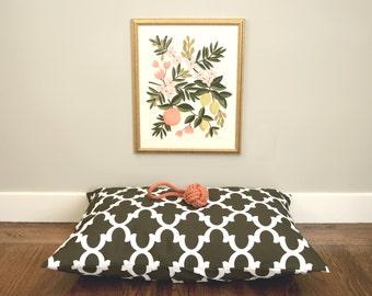 Indoor/Outdoor Dog Bed Cover, Moroccan Quatrefoil Pet Bed Cover