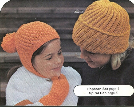 Knitting Pattern Books Hats : KNITTING & CROCHET Pattern Book Hats Scarves Mitts by ...