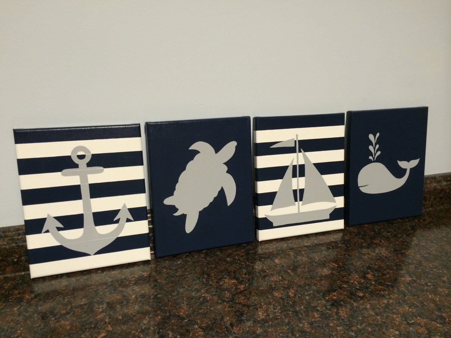 Nautical nursery decor baby boy girl nautical room decor for Room decor etsy