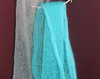 Hand Knit Mohair & Silk Wraps/Layering Blankets