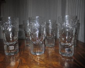 Vintage Kosta Boda , Set of 6 Snaps Glasses , Boda Dalom , Sweden Design Warff