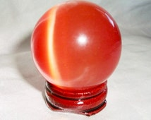 Crystal Scrying Ball Sphere – Various Colors + Candle and Incense