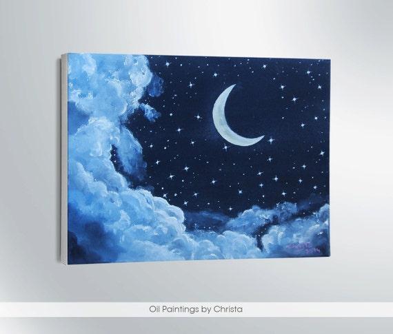 fr listing  la lune peinture a lhuile