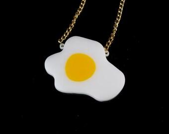 Acrylic Fried Egg Necklace