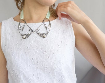 Collar necklace - Wire collar - Bridal jewelry