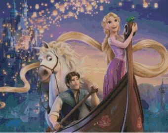 Disney's Tangled Cross Stitch Pattern