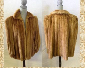 Vintage Fur Coat Jacket Cape, Stole, Wrap No.16