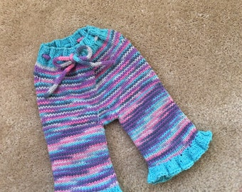 Small Longies Hand Knit Family Roots Northern Lights
