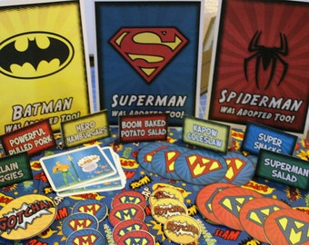 Adopted Super Hero Signs Printable