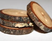 Gorgeous - Set of 4 Hand Crafted Pecan Tree Branch Buttons - 1 1/2 inch