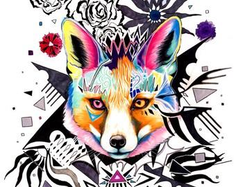 Mad Fox- Original painting