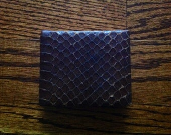 Vintage Brown Snake Skin Compact