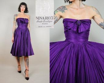 NINA RICCI Haute Boutique Silk Dress