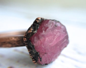 Rough ruby ring | Red ruby ring | Real ruby ring | Natural ruby ring | July Birthstone jewelry | July Birthstone ring | Ruby Birthstone ring