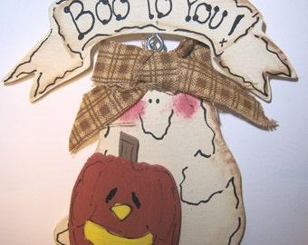 Ghost Boo to You Halloween Pin