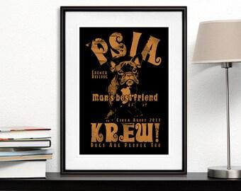 French Bulldog Poster  Man's best friend series