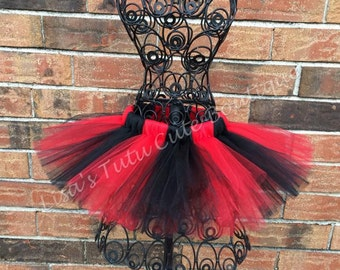 Red and black tutu, devil tutu, ladybug tutu. School spirit tutu. cake smash, cake smash tutu