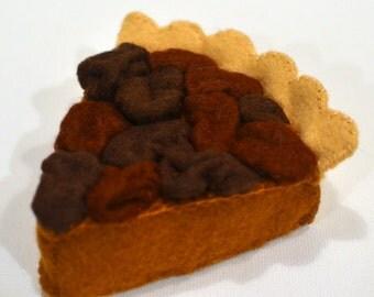 Felt Food Pecan Pie Slice Children's Play Food