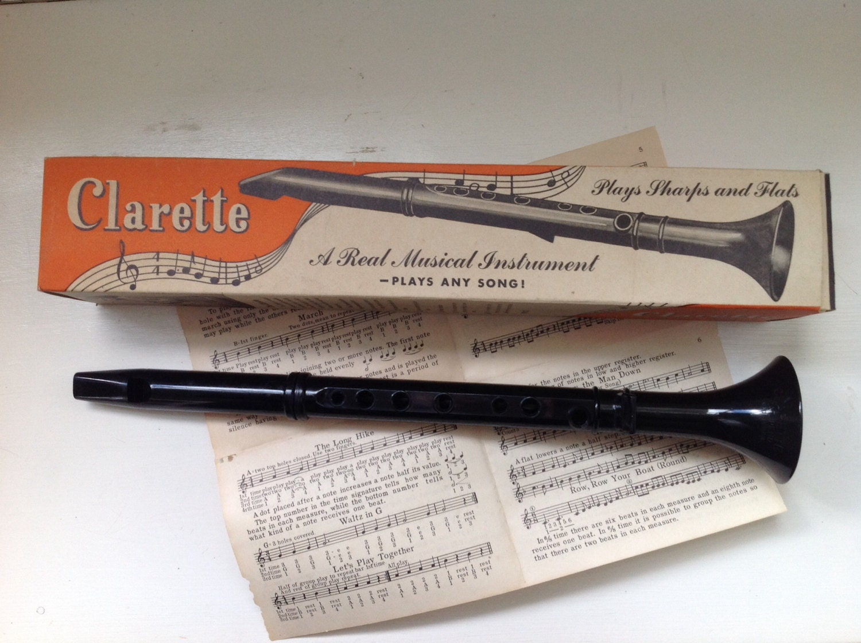 Vintage Musical Instrument Recorder Clarette