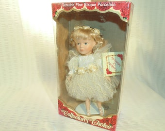 Fine Bisque Porcelain Ballerina Doll - Hand Painted Face -  New -  By Dan Dee - Perfect Gift For Ladies Of All Ages - Collectors Choice.