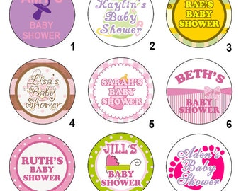 15 Baby Shower Pinback Button Set - Wholesale Pricing