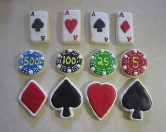 12 Tasty Poker Cookies