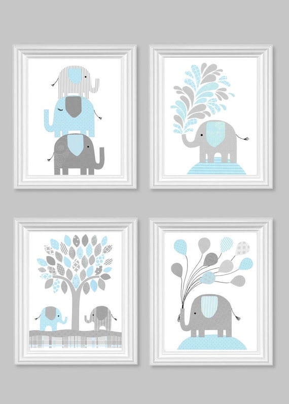 Blue And Gray Baby Room