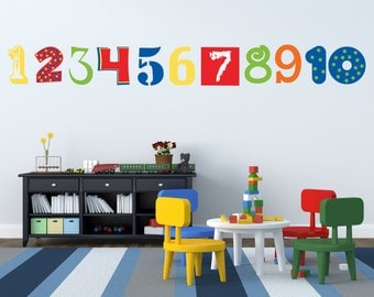 Number Wall Decals - Numbers Wall Decoration - ABC 123 Decals - Kids Room Decals