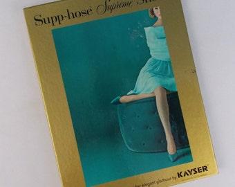 Kayser Supreme Sheer Support Stockings Hose size medium