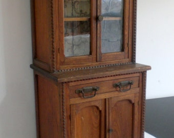 1800s Salesman Sample Pie Safe Case, 3 FEET TALL, Child's Size Antique Wood Cabinet, Vintage Country Farmhouse Cupboard, Original Very Old