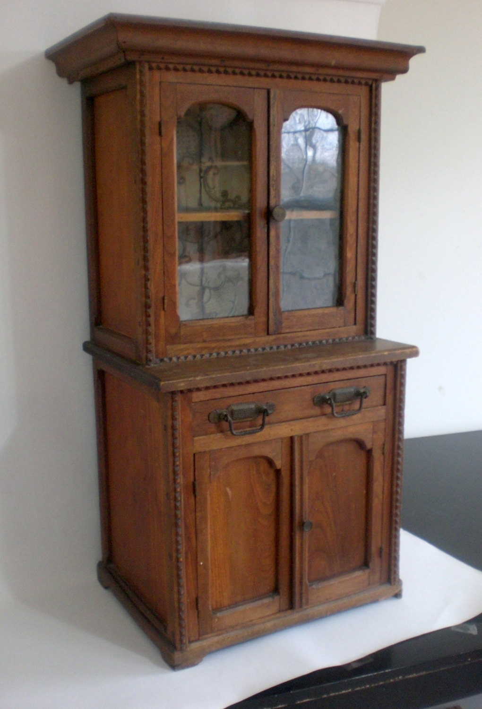 🔎zoom - 1800s Salesman Sample Pie Safe Case 3 FEET TALL Child's - Antique Wood Cabinet Antique Furniture