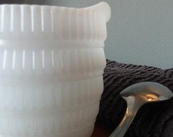 White Milk Glass Creamer