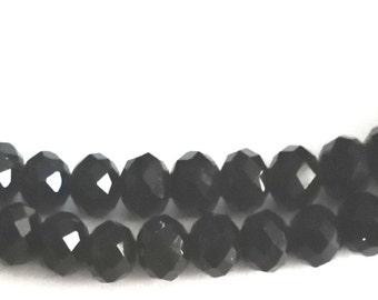 Double Black beaded necklace. True length 32 inches.