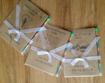 Personalised Vintage Childrens Kids Wedding Activity Book Pack Favour - Choice 3 designs