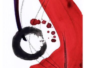 Enso Of Zen No. 102 ... Spiritual Zen Circle art archival print from original painting by Kathy Morton Stanion EBSQ