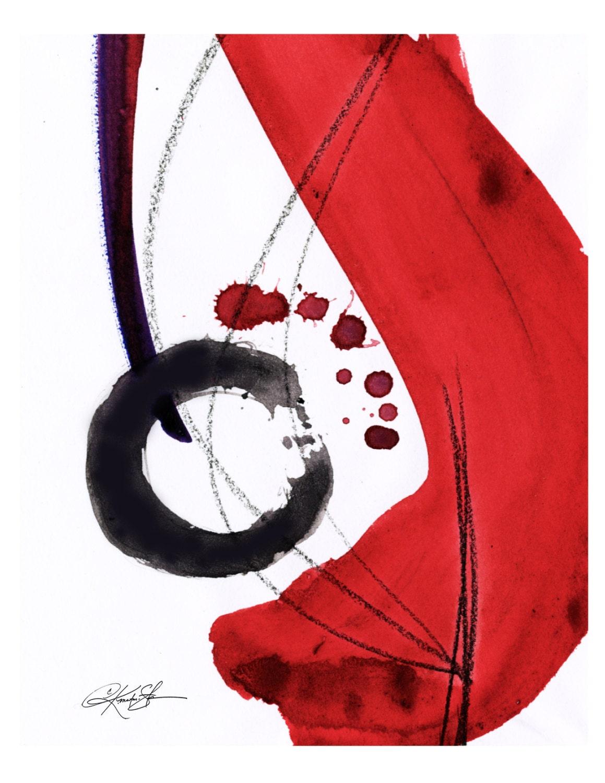 Original Enso Zen Painting Throw Pillows: Enso Of Zen No. 102 ... Spiritual Zen Circle Art Archival