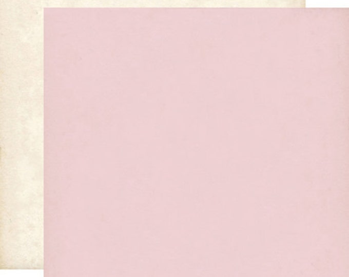 2 Sheets of Echo Park Paper YOURS TRULY 12x12 Valentine's Day Scrapbook Paper - Light Pink/Cream