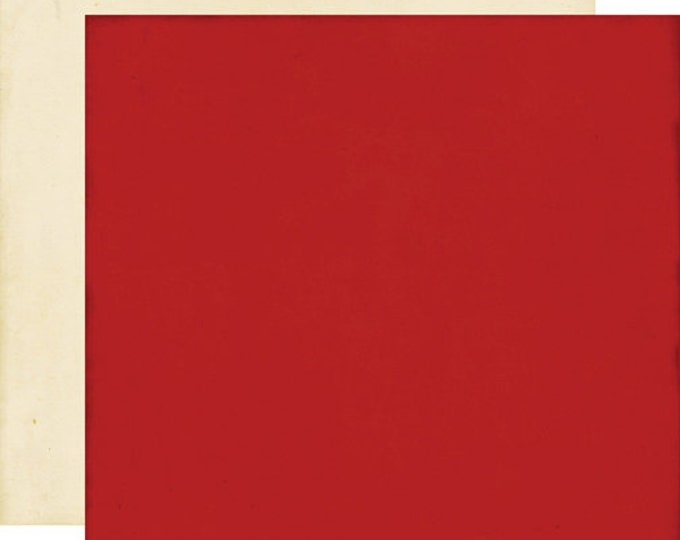 2 Sheets of Echo Park Paper THIS & THAT Graceful 12x12 Scrapbook Paper - Red/Cream