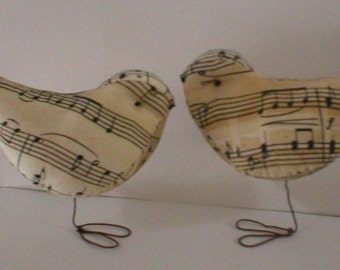 Music Cake Topper Love Birds  Newburystreetchic  We Ship Internationally