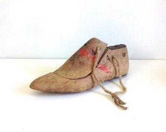 Vintage schoen vorm / schoenmaker vorm / houten schoen