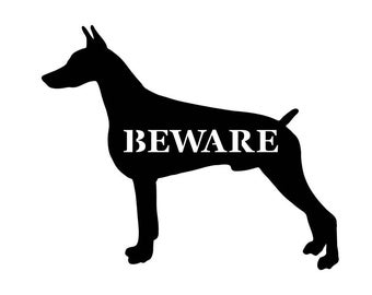 Personalized Doberman Pinscher Metal Sign - Custom Doberman Pinscher sign