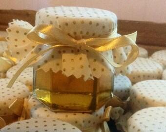 Romantic Wedding Favours, Honey Wedding Favours, Elegant Wedding Favours, Ivory and Gold