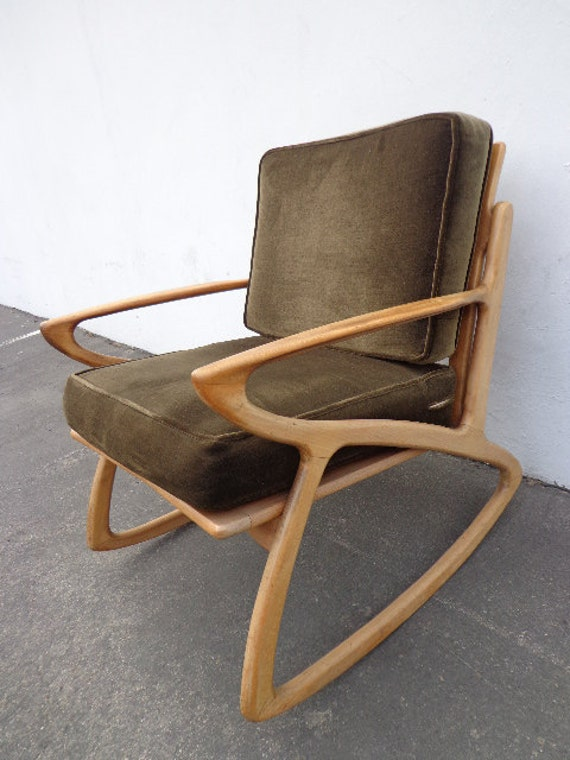 Mcm selig z inspired rocker armchair rocking chair mid century for Z chair mid century