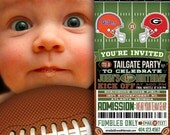 Football Ticket Birthday Invitations - Any Team You Want - Made to Order - Custom - Tailgate - Personalize - Printable - College - NFL